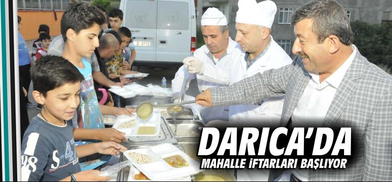 Darıca'da Mahalle İftarları Başlıyor