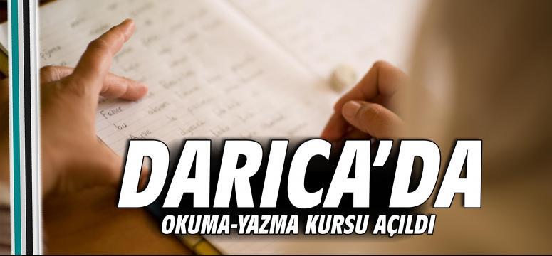 Darıca'da okuma-yazma kursu açıldı