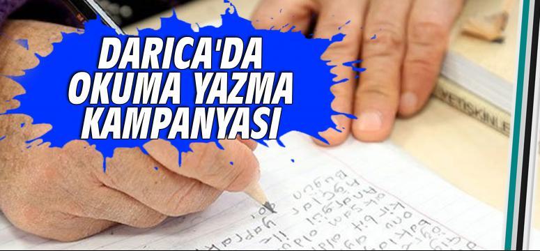 Darıca'da okuma-yazma kampanyası