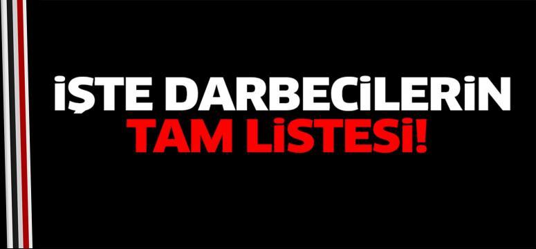 Darbecilerin tam listesi yayınlandı