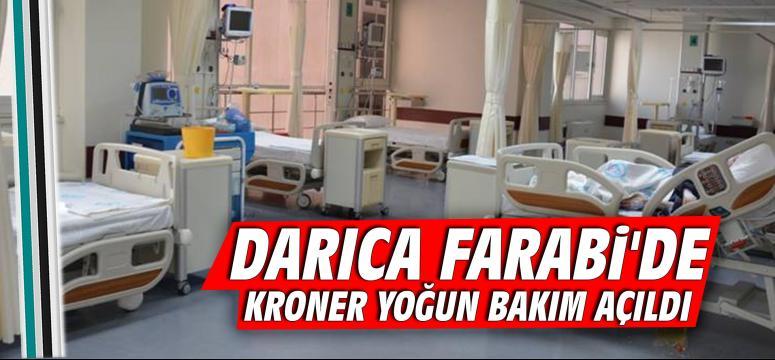 Darıca Farabi'de Kroner Yoğun Bakım Açıldı