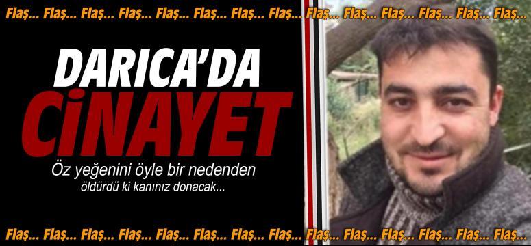 Darıca'da cinayet! Yeğenini öldürdü
