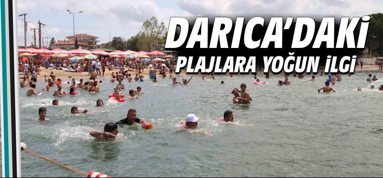 Darıca'daki plajlara yoğun ilgi