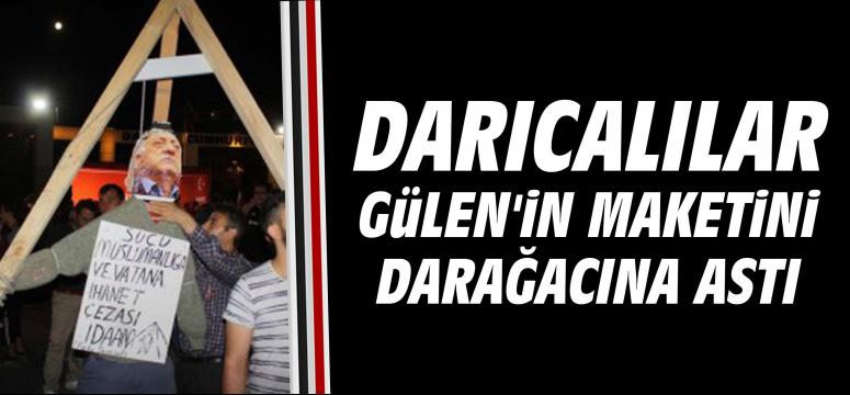 Darıcalılar Gülen'in Maketini, Darağacına Astı