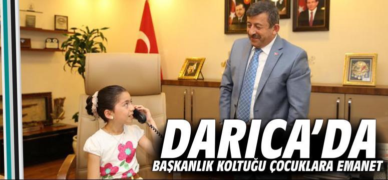 Darıca'da Başkanlık Koltuğu Çocuklara Emanet
