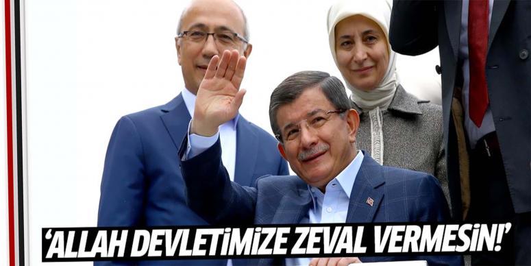 Davutoğlu memleketinde 10 saniye konuştu