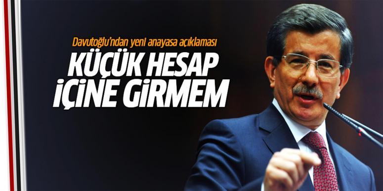 Davutoğlu'ndan anayasa açıklaması