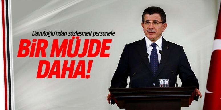 Davutoğlu'ndan sözleşmeli personel müjde
