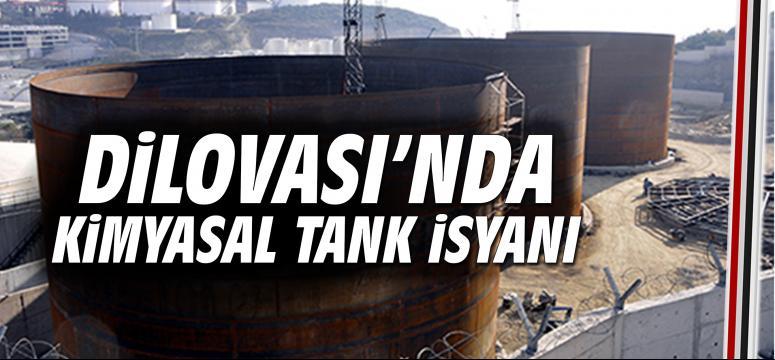 Dilovası'nda kimyasal tank isyanı