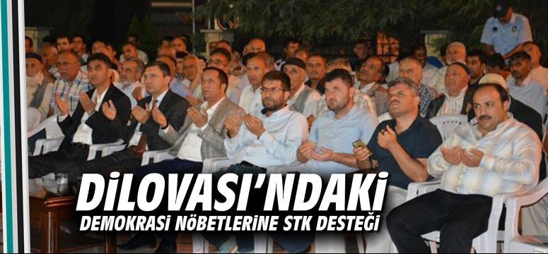 Dilovası'ndaki demokrasi nöbetlerine STK desteği