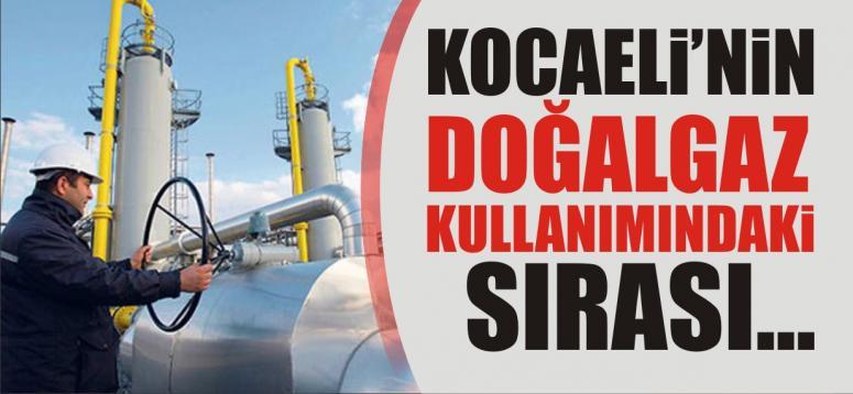 Kocaeli doğalgaz kullanımında ilk 3'te
