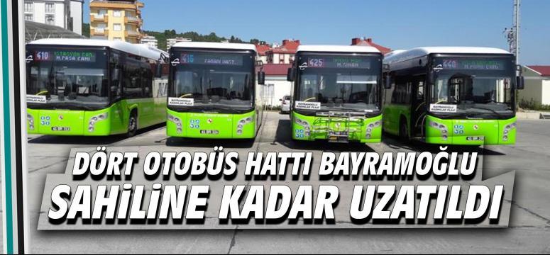 Dört otobüs hattı Bayramoğlu sahiline kadar uzatıldı