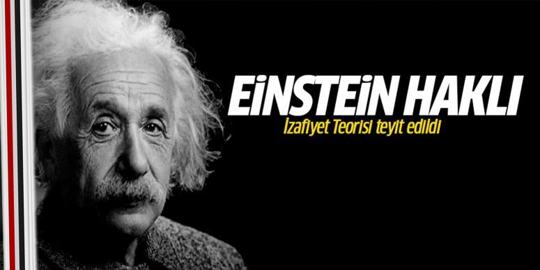 Einstein'ın İzafiyet Teorisi teyit edildi