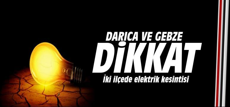 İki İlçede elektrik kesintisi