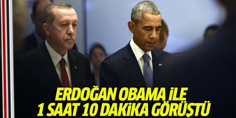Erdoğan ABD Başkanı Obama ile telefonda görüştü