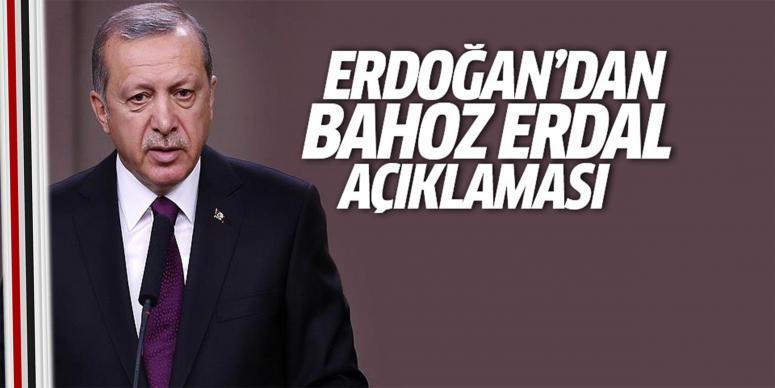 Erdoğan'dan Bahoz Erdal açıklaması
