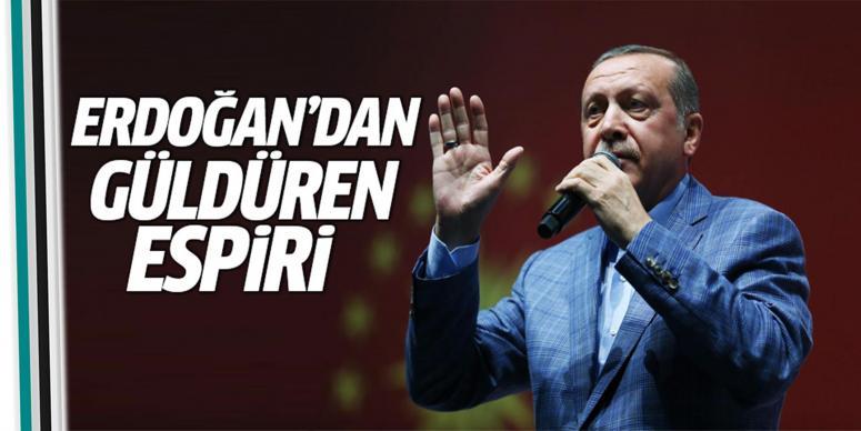 Erdoğan'dan güldüren 'yastuk' espirisi