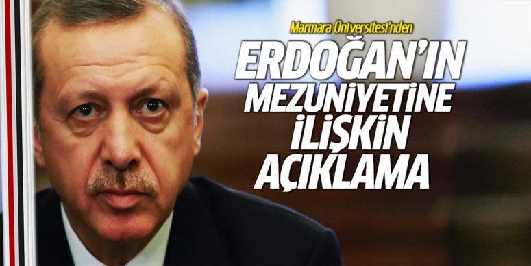 Erdoğan'ın mezuniyetine ilişkin açıklama