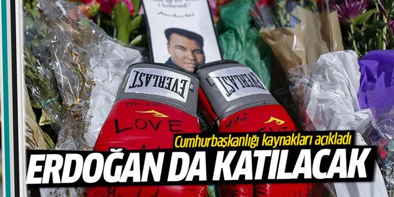 Erdoğan, Muhammed Ali'nin cenaze törenine katılacak