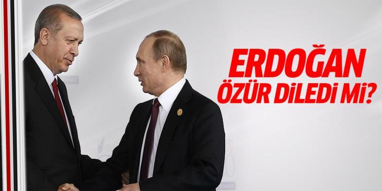 Erdoğan özür diledi mi?