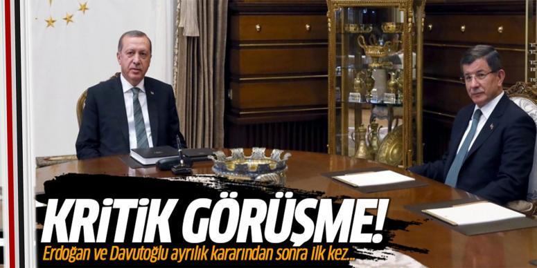 Erdoğan ve Davutoğlu ayrılık kararından sonra ilk kez...