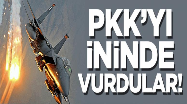 4 F-16 PKK'nın mağaralarını vurdu