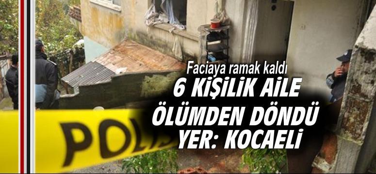 6 kişilik aile ölümden döndü