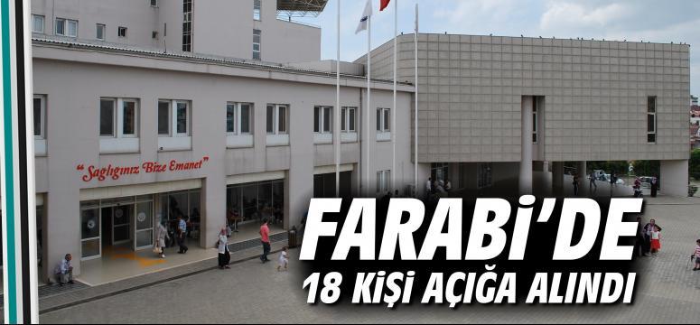 Farabi'de 18 kişi açığa alındı