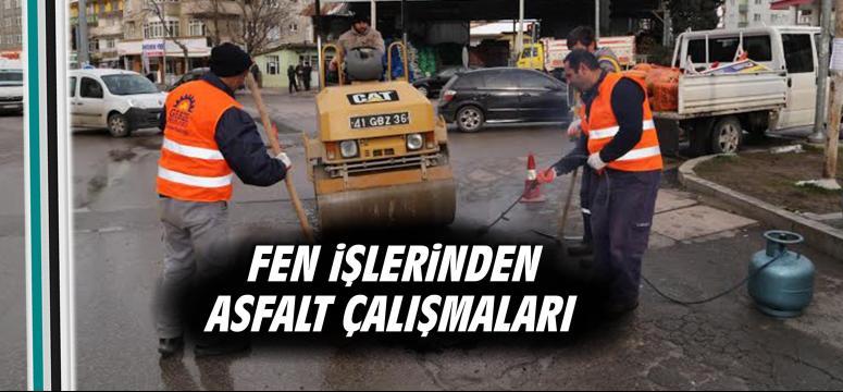 Fen işlerinden asfalt çalışmaları