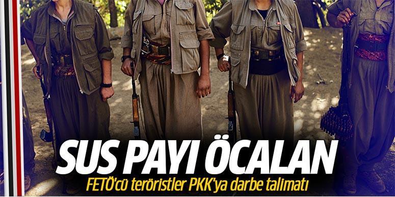 FETÖ'cü teröristler PKK'ya darbe talimatı!