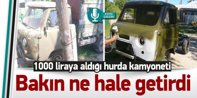 1000 liraya aldığı kamyoneti ne hale getirdi