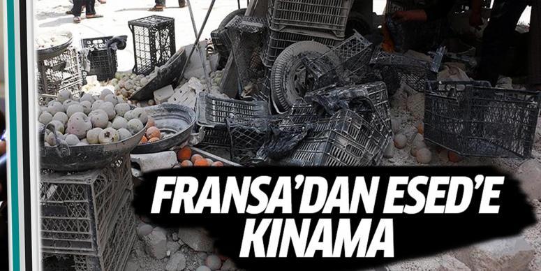 Fransa'dan Esed'e kınama