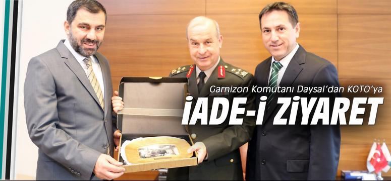 Garnizon Komutanı Daysal'dan  KOTO'ya iade-i ziyaret