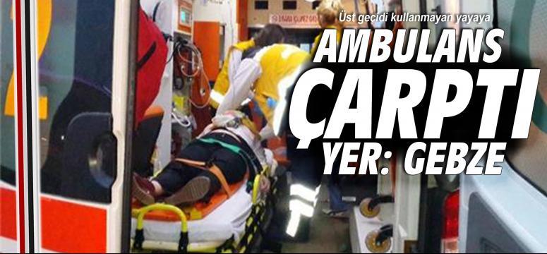 Ambulans çarptı