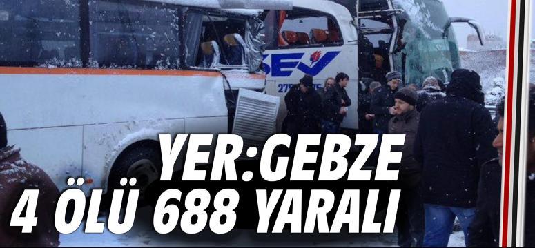 4 ölü 688 yaralı