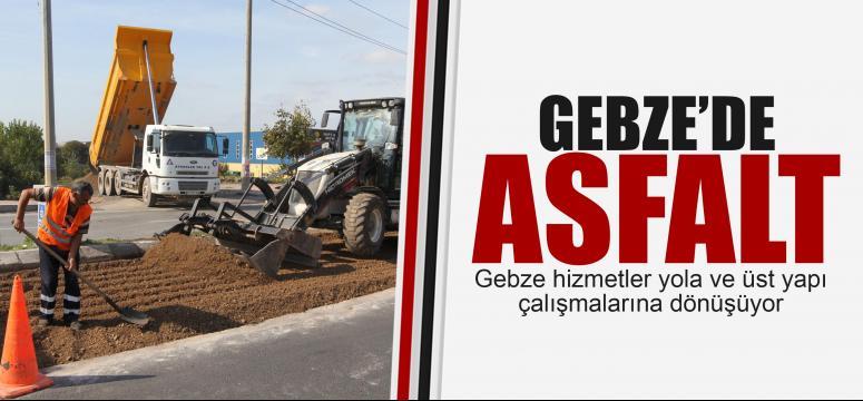 Gebze'de asfalt çalışmaları
