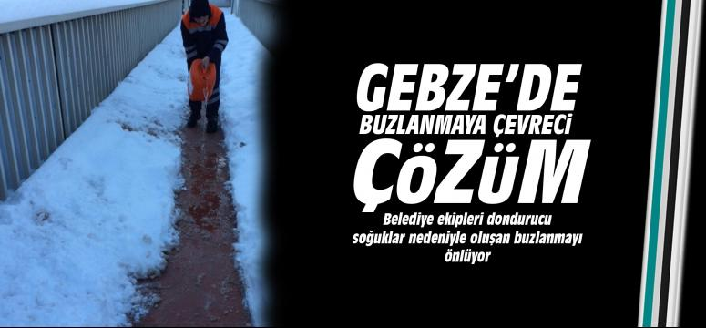 Gebze'de buzlanmaya çevreci müdahale