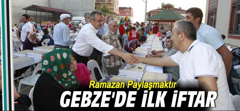 Gebze'de ilk iftar