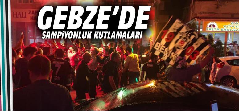 Gebze'de şampiyonluk kutlamaları