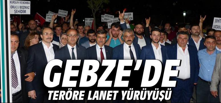 Gebze'de Teröre Lanet Yürüyüşü