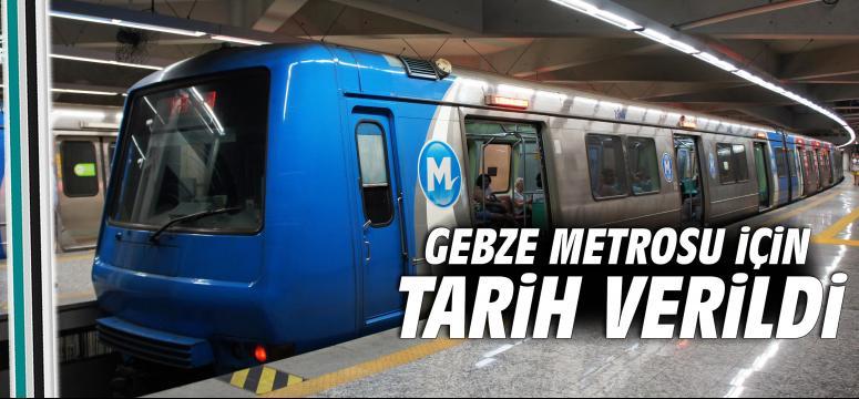 Gebze Metrosu İçin İşte O Tarih