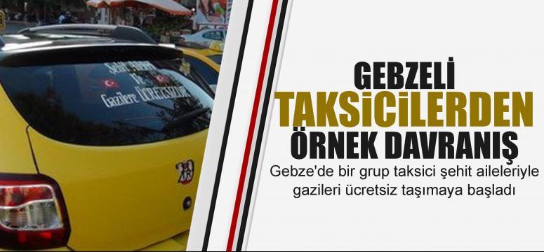 Gebzeli taksicilerden örnek davranış