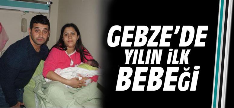 Gebze'de yılın ilk bebeği