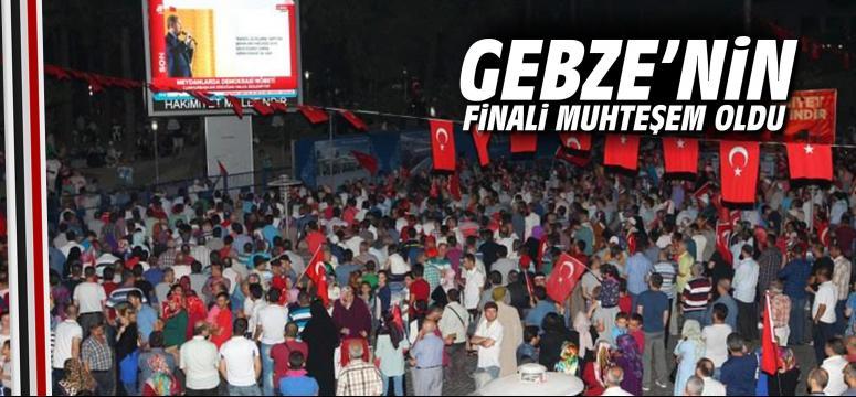 Gebze'nin finali muhteşem oldu