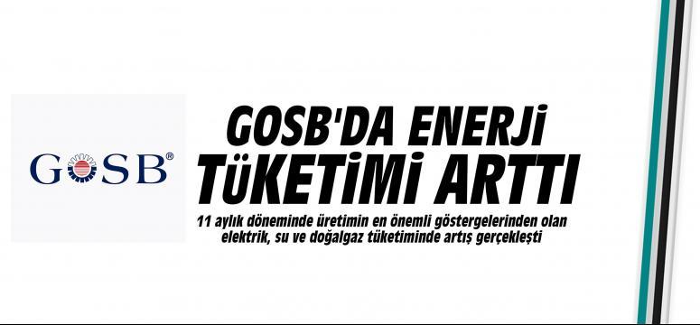 GOSB'da enerji tüketimi arttı