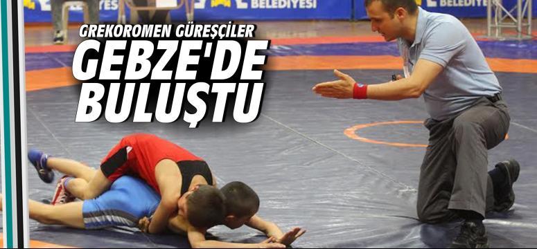 Grekoromen güreşçiler Gebze'de mücadele ediyor