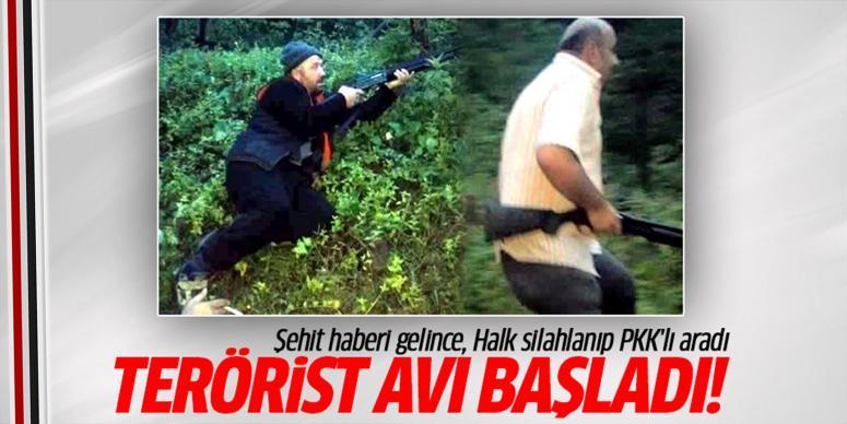Halk silahlanıp terörist avına çıktı
