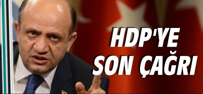 HDP'ye son çağrı