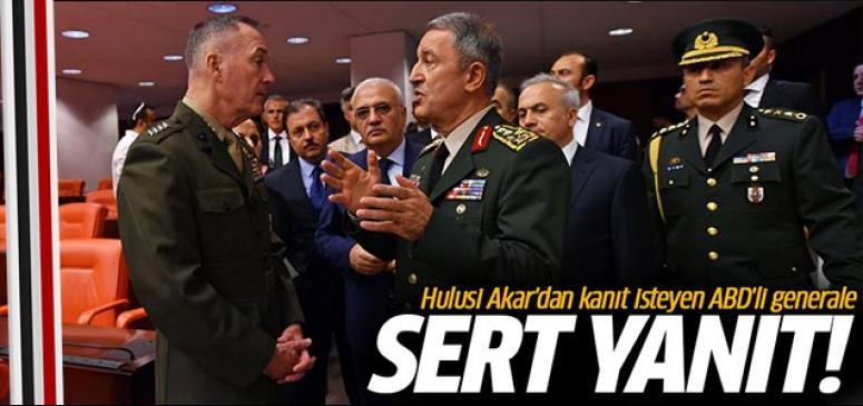 Hulusi Akar'dan kanıt isteyen ABD'li generale yanıt