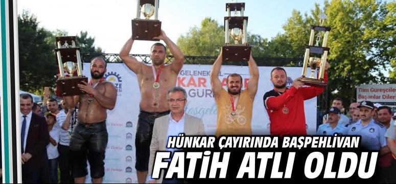 Hünkar Çayırı'nda başpehlivan; FATİH ATLI!
